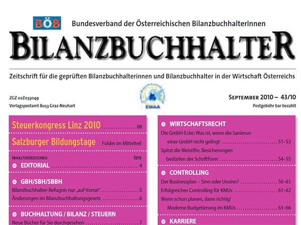 Bilanzbuchhalter 2010